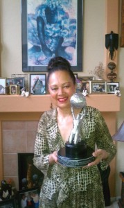 Yvonne Rose with Amber Books NAACP Image Award